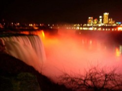 Niagra Falls lit up orange for MS Awareness!!  Love it.